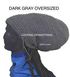 Charcoal Gray XXL Oversized #Beanie for #LongHair #Dreadlocks #Locs #LargeHatSize - Read happy customer testimonials on my shop's feedback page. https://www.etsy.com/listing/581454066/1-ready-to-ship-oversized-charcoal-gray