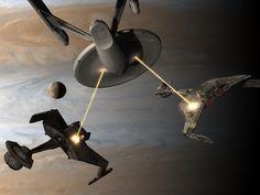Strength of the Enterprise by davemetlesits on DeviantArt Star Trek 1966, Star Trek Tv, Star Trek Ships, Star Wars, Star Trek Starships, Star Trek Enterprise, Klingon Empire, Star Trek Images, Star Trek Original