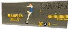 B-17 Flying Fortress Memphis Belle Nose Art Panel