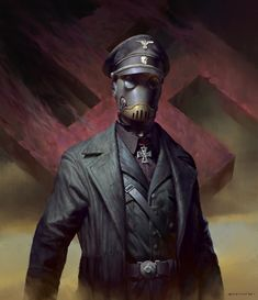 Karl Ruprecht Kroenen From HellBoy Fan Art . Character Concept, Character Art, Concept Art, Character Design, Hellboy Kroenen, Call Of Cthulhu Rpg, Zombie Army, Steampunk, Scary Art