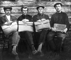 New Soviet officials. 1920s.