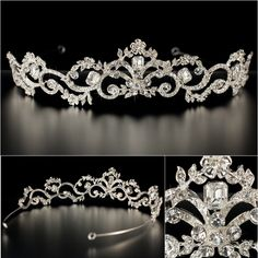 If I would ever have to wear a tiara for my wedding, it would only be this one! With a simple dress, gorgeous!