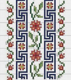 Cross Stitch Boarders, Cross Stitch Bookmarks, Cross Stitch Rose, Cross Stitch Flowers, Cross Stitch Charts, Cross Stitch Designs, Cross Stitching, Cross Stitch Patterns, Blackwork Embroidery