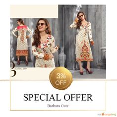 3% OFF on select products. Hurry, sale ending soon! Check out our discounted products now: http://www.barbaracute.com/products?utm_source=Pinterest&utm_medium=Orangetwig_Marketing&utm_campaign=Kurtis_@_Sale.