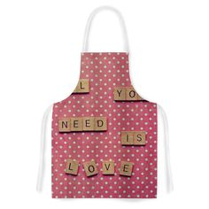 All You Need Is Love Fabric Artistic Apron