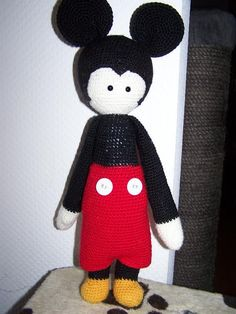 Mickey Mouse mod made by Eleonore / based on a lalylala crochet pattern