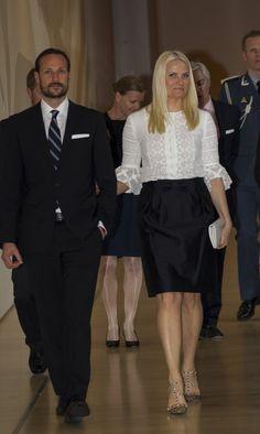 MYROYALS FASHİON: Crown Prince Haakon and Crown Princess Mette Marit Visit USA - Day 4