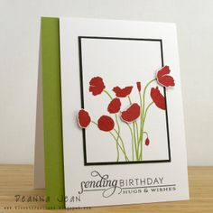Stamps: Papertrey Ink Botanical Silhouettes & Stylish Sentiments: Birthday