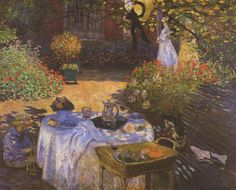 Tableaux sur toile, reproduction de Monet, The Luncheon, 160x201cm