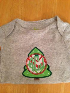 Christmas tree applique monogram from SewShea on Etsy