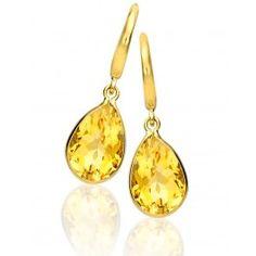 Kiki Classic Citrine Pear Drop Earrings