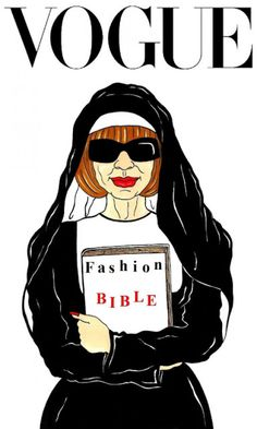 Anna Wintour, fashion bible, pinned by Ton van der Veer