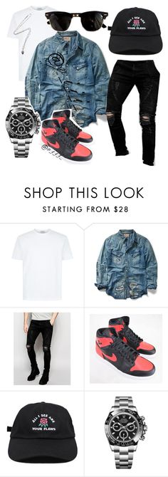 """You Can Walk On Water, Just Don't Look Down At Your Feet"" by viii-now ❤ liked on Polyvore featuring Ralph Lauren, Sik Silk, Rolex, KD2024, Ray-Ban, men's fashion and menswear"