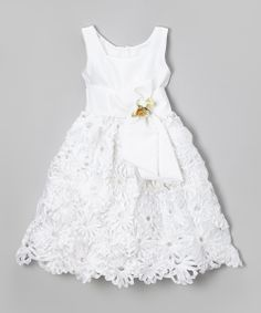 Look what I found on White Floral Sash Dress - Infant, Toddler & Girls by Kid Fashion Little Dresses, Little Girl Dresses, Girls Dresses, Little Girl Fashion, Fashion Kids, Toddler Outfits, Kids Outfits, Flower Girls, Flower Girl Dresses