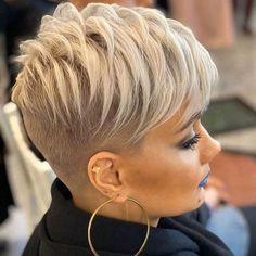 Longer Pixie Haircut, Haircut For Thick Hair, Short Pixie Haircuts, Haircuts With Bangs, Pixie Hairstyles, Pixie Cut Styles, Best Pixie Cuts, Blonde Pixie Cuts, Platinum Blonde Hair