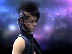 Alaïa - Cyberpunk!¡Style by Juan Martin Garcia Forn | Sci-Fi | 3D | CGSociety