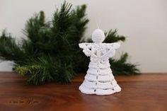 Angelo bianco all'uncinetto decorazione albero di by Acasaconmanu