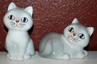 VINTAGE HANDPAINTED OTAGIRI CAT  KITTEN SALT & PEPPER SET SHAKERS ~SP5~