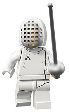 LEGO Minifigures Series 13 Fencer Construction Toy LEGO (to accompany his fencing lessons birthday gift maybe?)