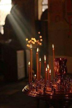 Orthodox Prayers, Orthodox Christianity, Prayer Corner, Church Candles, Christian Religions, Faith Prayer, Glow, Fathers, Angels