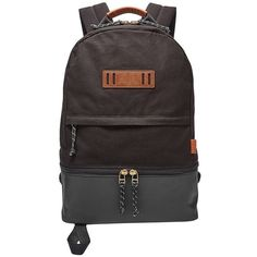 Fossil Summit Dome Backpack Mbg9327001 ($128) ❤ liked on Polyvore featuring men's fashion, men's bags, men's backpacks and mens canvas backpack