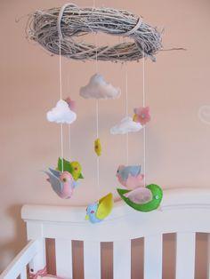 DIY mobile- yarn wrapped cardboard birds?
