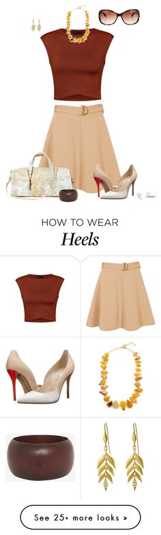 """Just wanted to do something with these heel!!"" by ksims-1 on Polyvore featuring River Island, Ally Fashion, Oscar de la Renta, Lucque, Kenneth Jay Lane, Marco Bicego and Oliver Peoples"