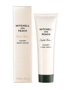 Mitchell and Peach—luxury hand cream 60ml, £17 This easily absorbed hand cream contains Vitamin E, shea butter and English honey to soften, nourish and protect the skin.