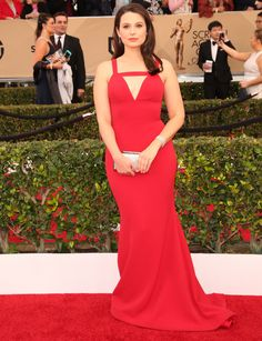 Katie Lowes in Christian Siriano | Screen Actors Guild Awards 2016