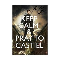 SIGNED PP SUPERNATURAL KEEP CALM MISHA COLLINS CASTIEL A4 POSTER PHOTO... ❤ liked on Polyvore featuring home, home decor, wall art, supernatural, backgrounds, pictures, words, filler, quotes and phrase