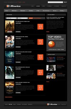 movies schedule website templates by bora