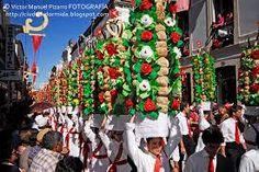 Festa dos tabuleiros Tomar. Bread and Flowers.