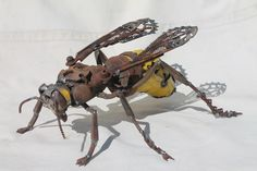 John Brown from rural West Wales created amazing holly Butterflies, Horse, lizard , birds and animals from scrap metal by welding them. Man Cave Metal, Sculpture Metal, Hand Sculpture, Scrap Metal Art, Junk Art, Welding Art, Metal Artwork, Animal Sculptures, Fauna