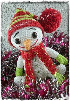 Un petit bonhomme de neige r alis gr ce au mod le trouv - Bonhomme de neige au crochet ...