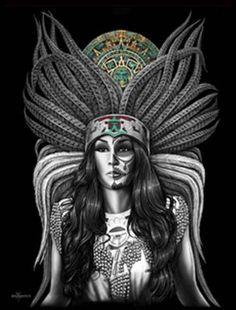 New Azteca Indian Sugar Skull Calendar Chicano Art DGA David Gonzalez Poster Chicano Tattoos, Marquesan Tattoos, Chicano Art, Chicano Drawings, Arte Lowrider, David Gonzalez, Latino Art, Aztec Culture, Sugar Skull Art