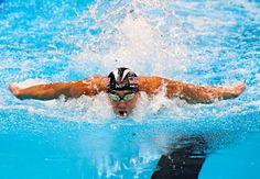 フェルプスの力泳 :フォトニュース - リオ五輪・パラリンピック 2016:時事ドットコム