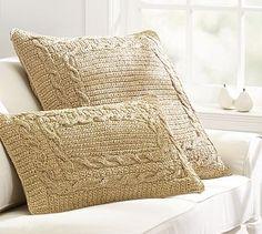 Paper Crochet Pillow Covers #potterybarn