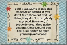 Testimony handout attached to tissues (camp?)