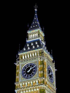 Elizabeth Tower, London  :||:  I've seen this image in person.  And, it's awesome.  Very, very awesome.