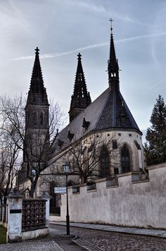 Vysehrad, Prague in winter