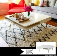 ikea hack - mid century modern coffee table