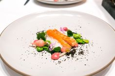 Troll Caught Alaskan King Salmon, radish, ramp, fava at Providence in Los Angeles by @Laura Jayson Lord of the Forks = Food Traveler