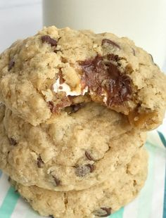 754148fda67bc0 Caramel Apple Milky Way Oatmeal Peanut Butter Chocolate Chip Cookies
