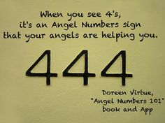 444 - The angels are all around you, helping you and answering your prayers. Angel Numbers Doreen Virtue #quotes www.facebook.com/angelsoflight44