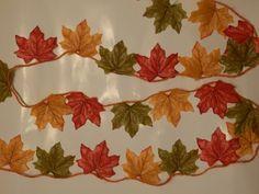 Halloween Autumn/Fall Leaf Garland. by Pearlypantscrafts on Etsy, £6.50