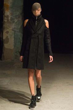 Hood by Air - Fall 2015 Ready-to-Wear - Look 17 of 35  + wool fringe shoulders.