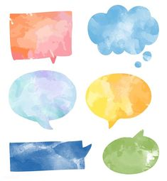 Set of colorful watercolor speech bubbles vector Free Vector Art And Illustration, Free Illustrations, Journal Stickers, Planner Stickers, Good Notes, Note Paper, Abstract Watercolor, Cute Stickers, Trees To Plant