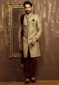 Mens Pakistani Wedding Wear Designer Traditional Indo Western Dress From India Sherwani For Men Wedding, Wedding Dresses Men Indian, Sherwani Groom, Mens Sherwani, Wedding Dress Men, Wedding Wear, Wedding Suits, Tuxedo Wedding, Punjabi Wedding