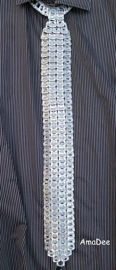 .Coś dla mężczyzn. Krawat z aluminiowych kluczyków. CUTE for guys! Inspiration!