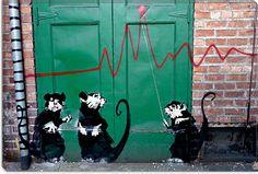 Banksy in Seattle by Banksy Canvas Art Print
